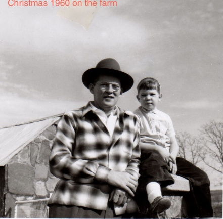 Christmas 1960 Pam & Father
