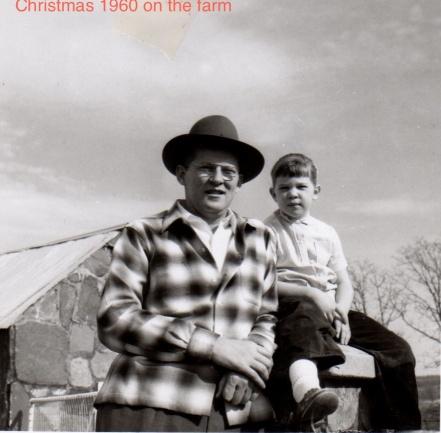 Christmas 1960 Pam & Father