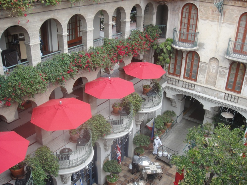 balcony views of courtyard