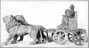 Cybele drives the lion chariot