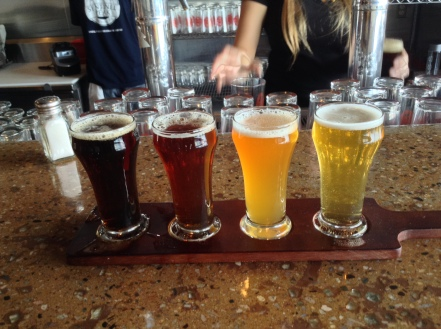 Flight of Firefighter Craft Beer