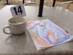 cappucino and drawing