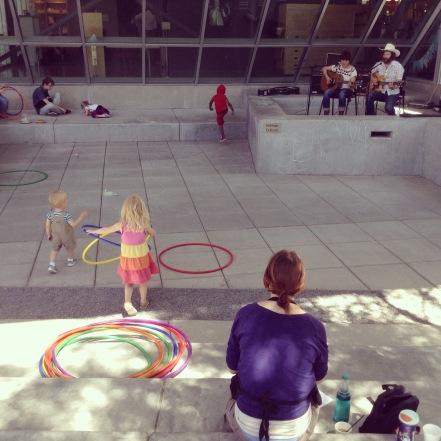 hula hoop and band