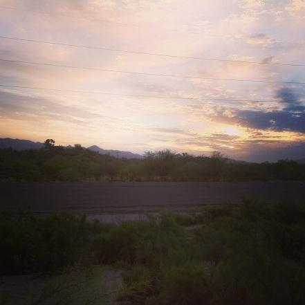 sunrise on the Rillito