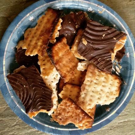 chocolate and cinnamon matzoh