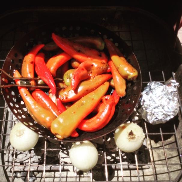 grilling vegetables #foodprep