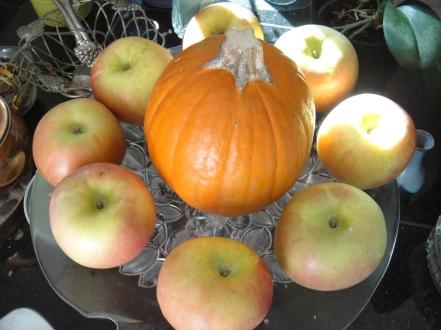 apples and pumpkin