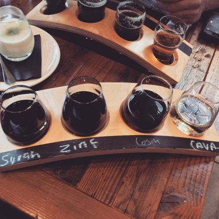 beer and wine flights