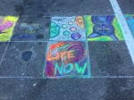 my chalk art with neighbors