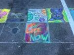 my chalk art with neighbors