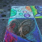 my chalk art in progress