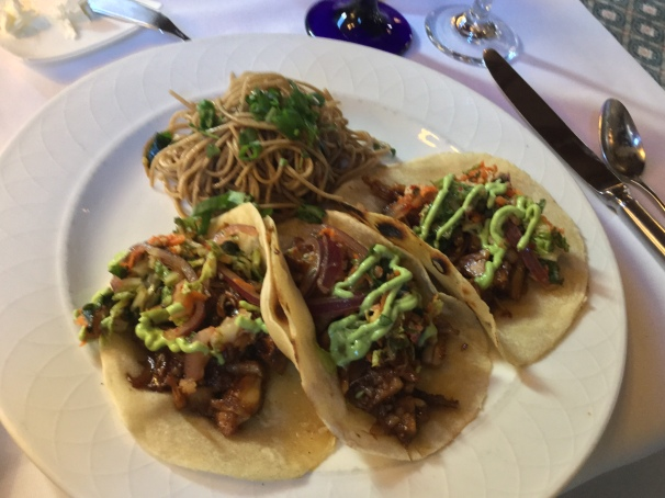 Korean jackfruit tacos