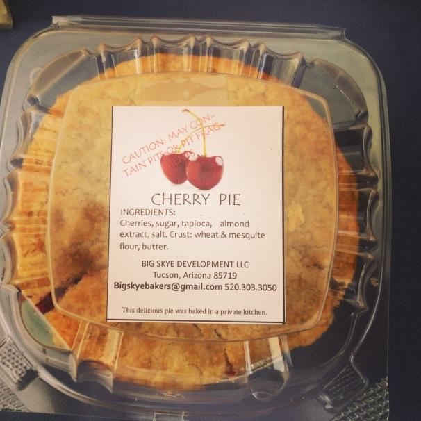 cherry pie with mesquite crust