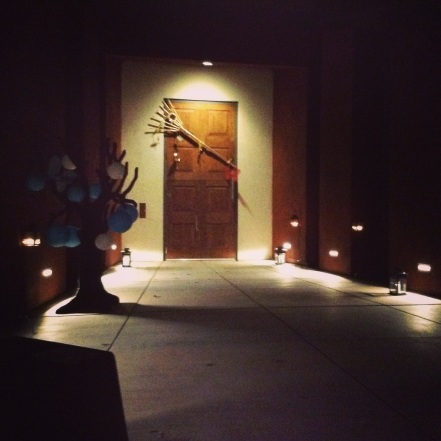door in the darkness