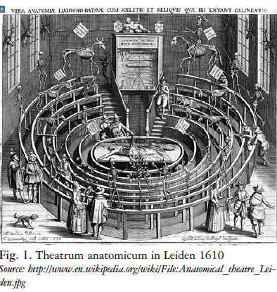 Anatomical theater Leiden 1610