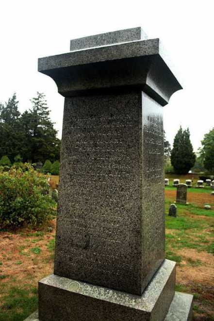 His name is on the monument dedicated to the early settlers of Green Harbor at the Winslow Cenetery in Marshfield, Mass.