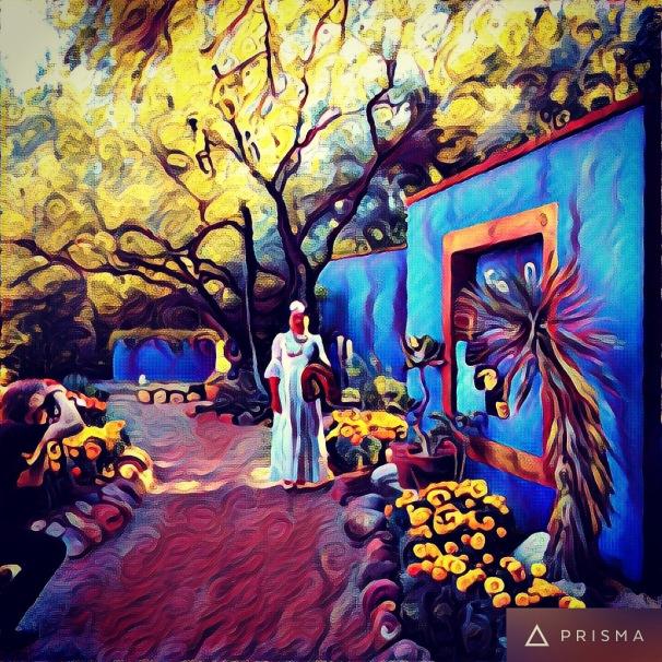 Frida in the garden