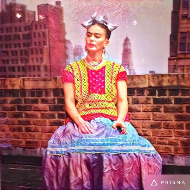 Frida gets dressed