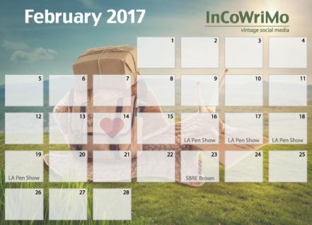 2017 calendar InCoWriMo