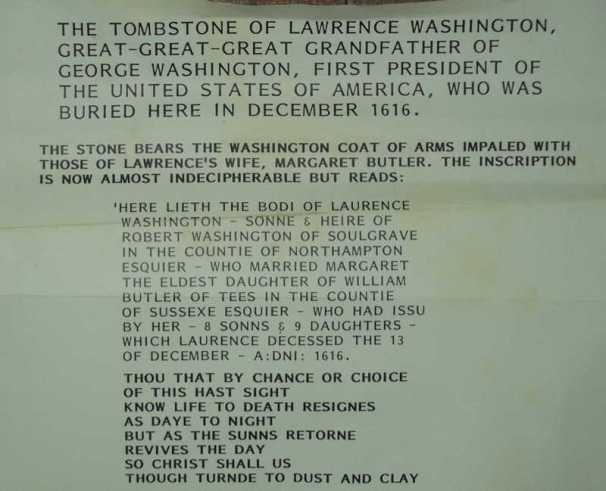 grave of Lawrence Washington