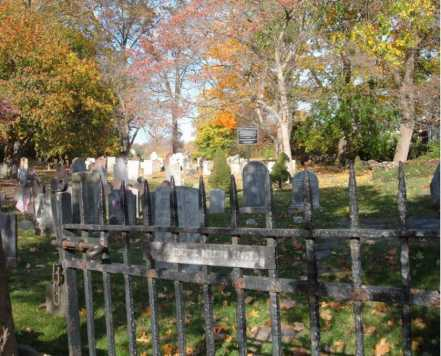 Entrance to Old Sound Cemetery, also known as the Tomac Burying Grounds