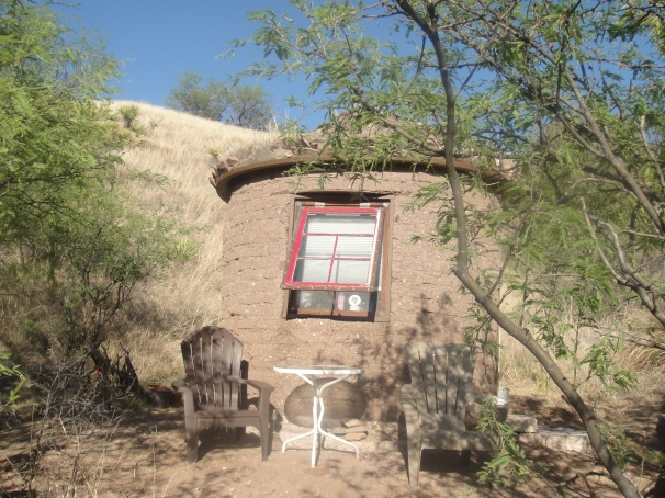 tiny adobe house