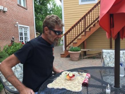 Bob at breakfast