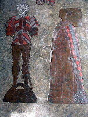 Sir John Say, 1478, and wife Elizabeth, 1473, Broxbourne, Hertfordshire.
