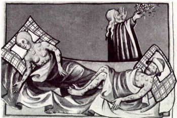 Humphrey actually died of the plague, not of wounds after The Battle of St. Albans. He was apprently badly wounded there, but survived.